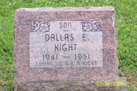 KIGHT, DALLAS E. - Ross County, Ohio | DALLAS E. KIGHT - Ohio Gravestone Photos
