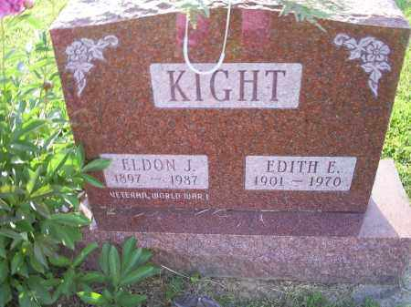 KIGHT, ELDON J. - Ross County, Ohio | ELDON J. KIGHT - Ohio Gravestone Photos