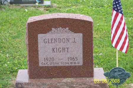 KIGHT, GLENDON J. - Ross County, Ohio | GLENDON J. KIGHT - Ohio Gravestone Photos