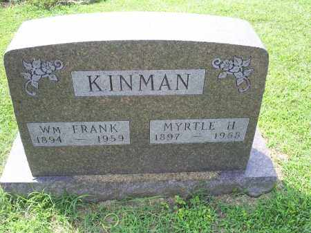 KINMAN, WM FRANK - Ross County, Ohio | WM FRANK KINMAN - Ohio Gravestone Photos