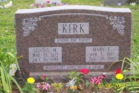 KIRK, MARY L. - Ross County, Ohio | MARY L. KIRK - Ohio Gravestone Photos