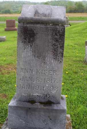 KISER, ANN - Ross County, Ohio | ANN KISER - Ohio Gravestone Photos