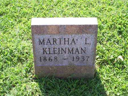 KLEINMAN, MARTHA L. - Ross County, Ohio | MARTHA L. KLEINMAN - Ohio Gravestone Photos