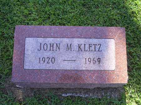 KLETZ, JOHN M - Ross County, Ohio | JOHN M KLETZ - Ohio Gravestone Photos