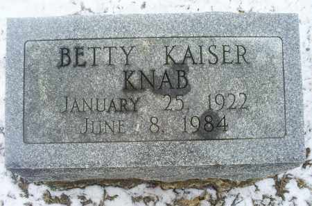 KNAB, BETTY - Ross County, Ohio | BETTY KNAB - Ohio Gravestone Photos