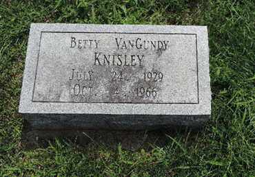 VANGUNDY KNISLEY, BETTY - Ross County, Ohio | BETTY VANGUNDY KNISLEY - Ohio Gravestone Photos