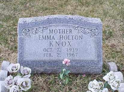KNOX, EMMA HOLTON - Ross County, Ohio | EMMA HOLTON KNOX - Ohio Gravestone Photos
