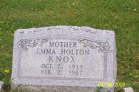 HOLTON KNOX, EMMA - Ross County, Ohio | EMMA HOLTON KNOX - Ohio Gravestone Photos