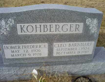 KOHBERGER, HOMER FREDERICK - Ross County, Ohio | HOMER FREDERICK KOHBERGER - Ohio Gravestone Photos