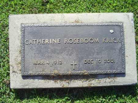 ROSEBOOM KRICK, CATHERINE - Ross County, Ohio | CATHERINE ROSEBOOM KRICK - Ohio Gravestone Photos