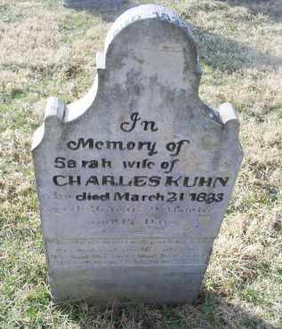 KUHN, SARAH - Ross County, Ohio | SARAH KUHN - Ohio Gravestone Photos