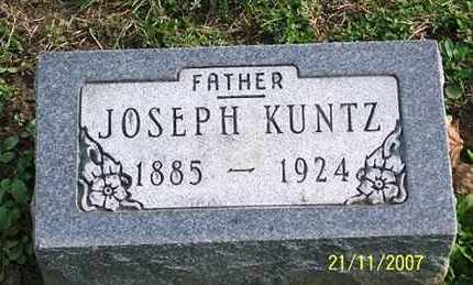 KUNTZ, JOSEPH - Ross County, Ohio | JOSEPH KUNTZ - Ohio Gravestone Photos