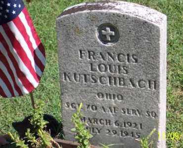 KUTSCHBACH, FRANCIS LOUIS - Ross County, Ohio | FRANCIS LOUIS KUTSCHBACH - Ohio Gravestone Photos