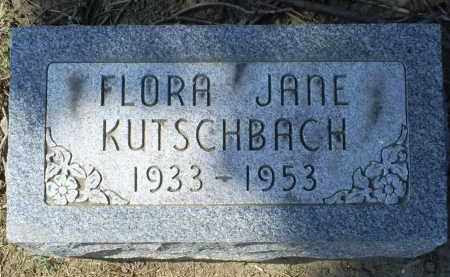KUTSCHBACH, FLORA JANE - Ross County, Ohio | FLORA JANE KUTSCHBACH - Ohio Gravestone Photos