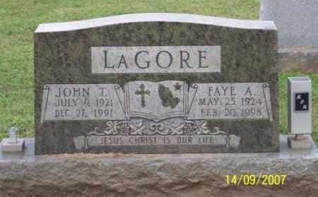LAGORE, JOHN T. - Ross County, Ohio | JOHN T. LAGORE - Ohio Gravestone Photos