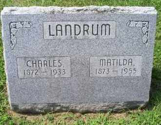 LANDRUM, MATILDA - Ross County, Ohio | MATILDA LANDRUM - Ohio Gravestone Photos