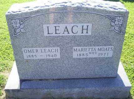 LEACH, OMER - Ross County, Ohio | OMER LEACH - Ohio Gravestone Photos