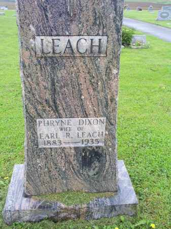DIXON LEACH, PHYRNE - Ross County, Ohio | PHYRNE DIXON LEACH - Ohio Gravestone Photos