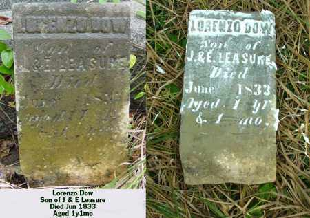 LEASURE, LORENZO DOW - Ross County, Ohio   LORENZO DOW LEASURE - Ohio Gravestone Photos