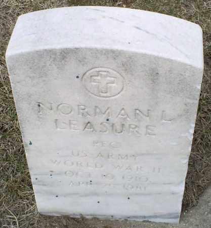 LEASURE, NORMAN L. - Ross County, Ohio | NORMAN L. LEASURE - Ohio Gravestone Photos