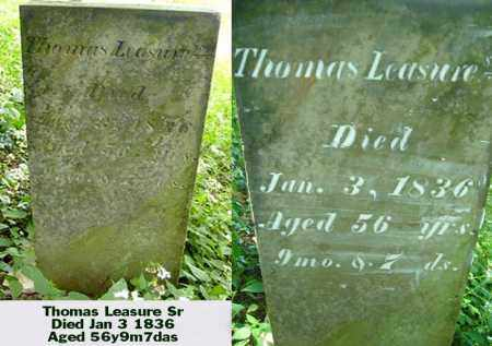 LEASURE, THOMAS SEN. - Ross County, Ohio | THOMAS SEN. LEASURE - Ohio Gravestone Photos