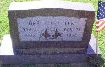 LEE, ORA ETHEL - Ross County, Ohio | ORA ETHEL LEE - Ohio Gravestone Photos