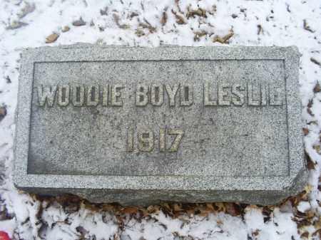 LESLIE, WOODIE BOYD - Ross County, Ohio | WOODIE BOYD LESLIE - Ohio Gravestone Photos