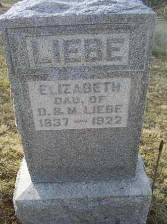 LIEBE, ELIZABETH - Ross County, Ohio | ELIZABETH LIEBE - Ohio Gravestone Photos