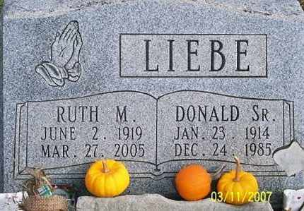 LIEBE, DONALD SR. - Ross County, Ohio | DONALD SR. LIEBE - Ohio Gravestone Photos