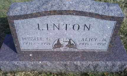 LINTON, RUSSELL C. - Ross County, Ohio | RUSSELL C. LINTON - Ohio Gravestone Photos