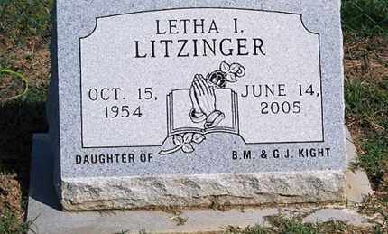 LITZINGER, LETHA I. - Ross County, Ohio | LETHA I. LITZINGER - Ohio Gravestone Photos