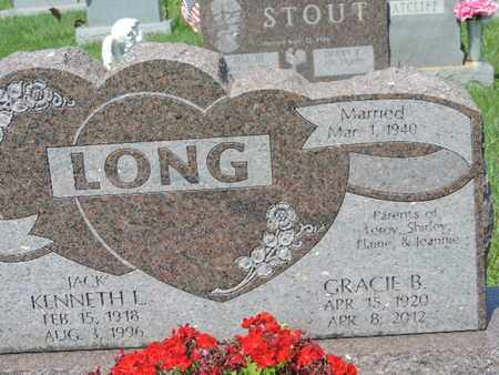 LONG, GRACIE B - Ross County, Ohio | GRACIE B LONG - Ohio Gravestone Photos
