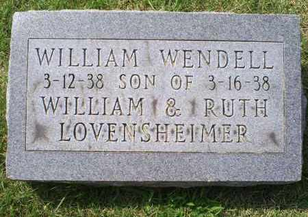 LOVENSHEIMER, WILLIAM WENDALL - Ross County, Ohio | WILLIAM WENDALL LOVENSHEIMER - Ohio Gravestone Photos