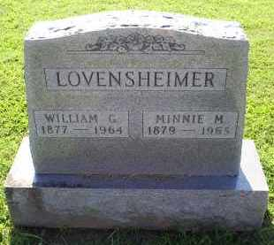 LOVENSHEIMER, MINNIE M. - Ross County, Ohio | MINNIE M. LOVENSHEIMER - Ohio Gravestone Photos
