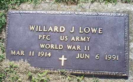 LOWE, WILLARD J. - Ross County, Ohio | WILLARD J. LOWE - Ohio Gravestone Photos