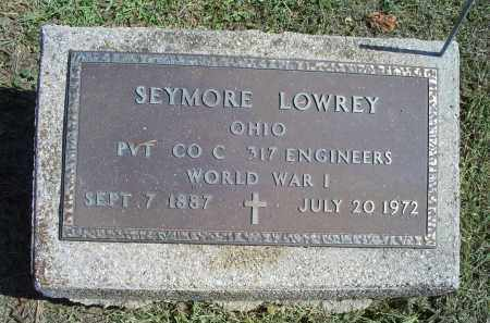 LOWREY, SEYMORE - Ross County, Ohio | SEYMORE LOWREY - Ohio Gravestone Photos