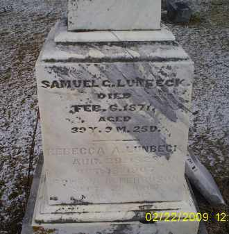 LUNBECK, SAMUEL C. - Ross County, Ohio | SAMUEL C. LUNBECK - Ohio Gravestone Photos
