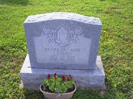 LYONS, PATRICIA ANN - Ross County, Ohio | PATRICIA ANN LYONS - Ohio Gravestone Photos