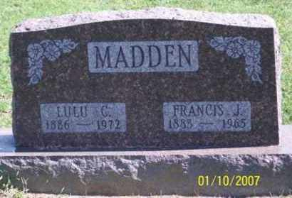 MADDEN, FRANCIS J. - Ross County, Ohio | FRANCIS J. MADDEN - Ohio Gravestone Photos