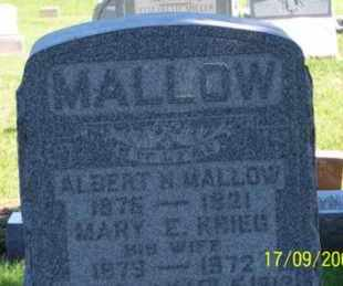 MALLOW, MARY E. - Ross County, Ohio | MARY E. MALLOW - Ohio Gravestone Photos
