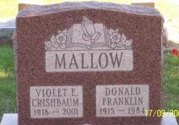 MALLOW, DONALD FRANKLIN - Ross County, Ohio | DONALD FRANKLIN MALLOW - Ohio Gravestone Photos
