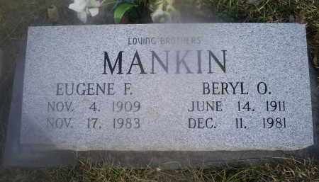 MANKIN, EUGENE F. - Ross County, Ohio | EUGENE F. MANKIN - Ohio Gravestone Photos