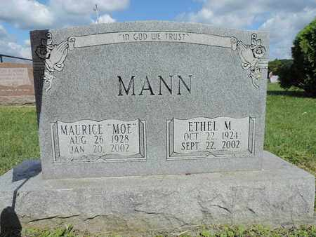 MANN, ETHEL M - Ross County, Ohio | ETHEL M MANN - Ohio Gravestone Photos