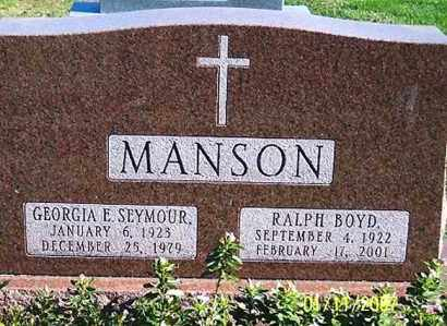 MANSON, GEORGIA E. - Ross County, Ohio | GEORGIA E. MANSON - Ohio Gravestone Photos