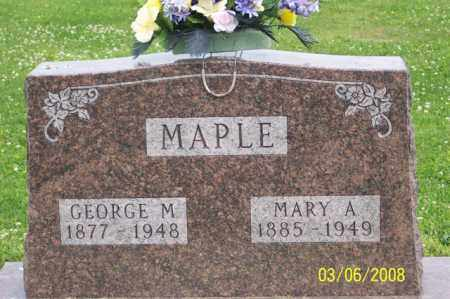 MAPLE, GEORGE M. - Ross County, Ohio | GEORGE M. MAPLE - Ohio Gravestone Photos