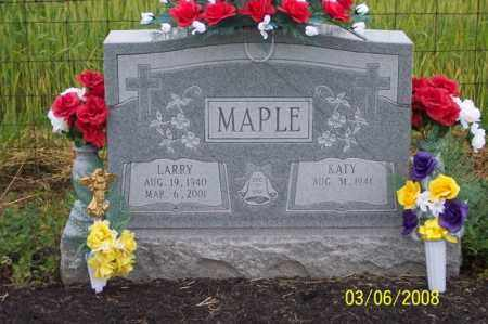 MAPLE, LARRY - Ross County, Ohio | LARRY MAPLE - Ohio Gravestone Photos