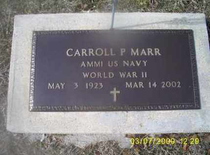 MARR, CARROLL P. - Ross County, Ohio | CARROLL P. MARR - Ohio Gravestone Photos