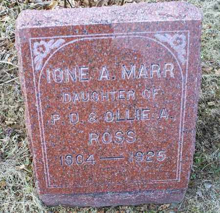 MARR, IONE A. - Ross County, Ohio | IONE A. MARR - Ohio Gravestone Photos