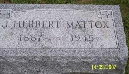 MATTOX, J. HERBERT - Ross County, Ohio | J. HERBERT MATTOX - Ohio Gravestone Photos