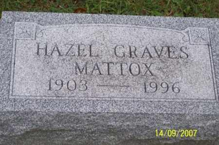 GRAVES MATTOX, HAZEL - Ross County, Ohio | HAZEL GRAVES MATTOX - Ohio Gravestone Photos